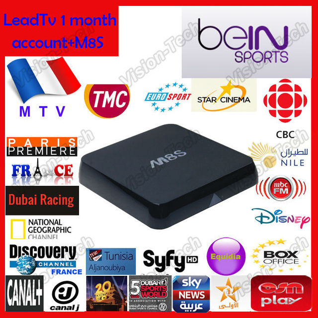 US $69 99 |Arabic IPTV Box Free TV,Arabic Android TV Box M8S amlogic s812,  IPTV Receiver Android 4 4 Quad Core Arabic Free IP TV Box HD-in Set-top
