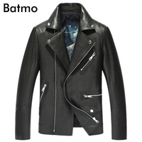 Batmo 2018 New Arrival High Quality Genuine Leather Men Casual Sheepskin Jacket Men 16002