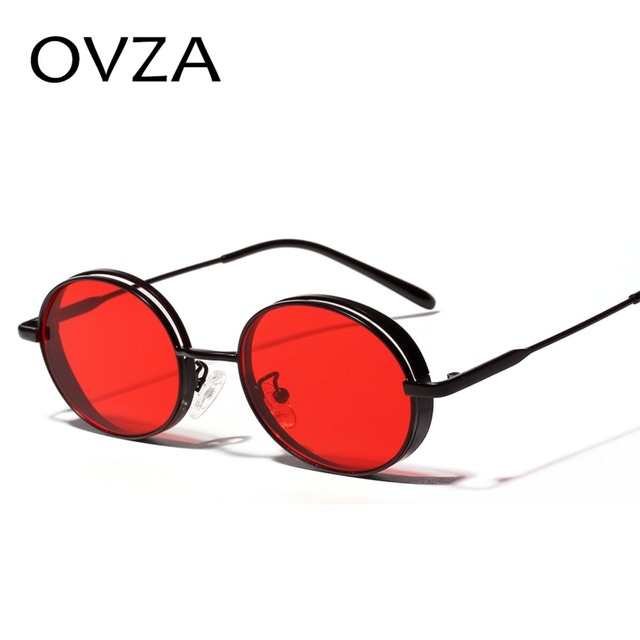 96a57a9e427 OVZA Small Steampunk Sunglasses Men Oval Retro Women Sunglasses Classic  Vintage Glasses Punk Goth Style oculos masculino S8025