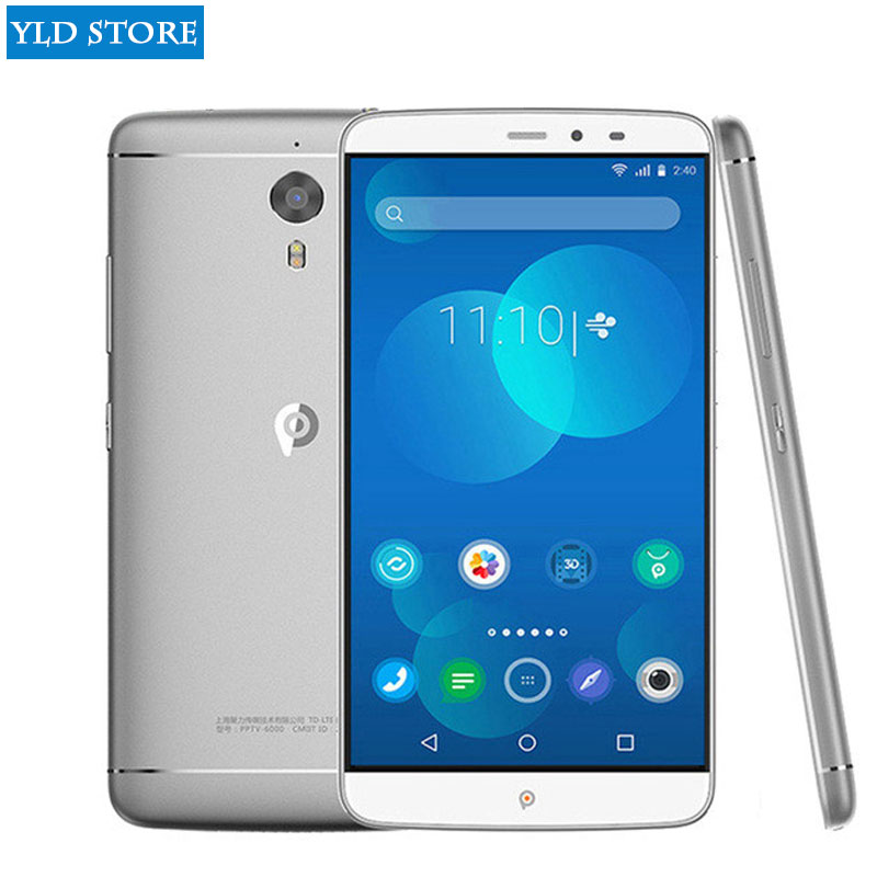 Original PPTV PP KING 7S 7 naked eye 3D smart phone MTK Helio X10 CPU 3GB RAM 32G ROM 6.0 inch 2560 * 1440 pixels 4G FDD-LTE 3G
