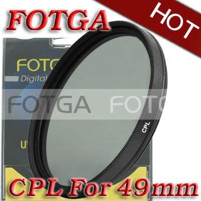 Fotga Wholesal 49mm Circular Polarizing CPL C PL Filter Lens 49mm for Canon NIKON Sony Olympus
