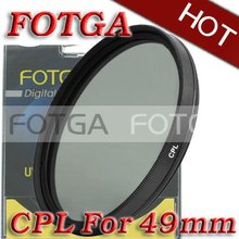 FOTGA Wholesal 49 мм CPL Циркулярный поляризационный C-PL фильтр объектива 49 мм для Canon Nikon Sony Olympus Камера