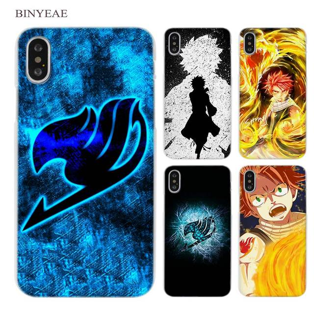 166de0256 BINYEAE Fairy Tail Clear Cell Phone Case Cover for Apple iPhone X 6 6s 7 8  Plus 4 4s 5 5s SE 5c