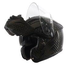 Marushin originais B1 certificação ECE capacete da Motocicleta lente Dupla de Fibra De Carbono da aleta moto cara Cheia capacete Casque Moto