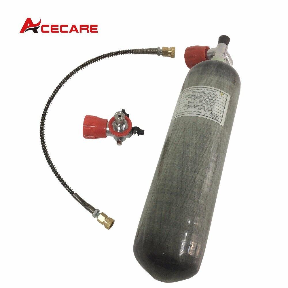 Acecare с клапаном и наполнения 3L 4500 фунтов/кв. дюйм углеродного волокна для PCP воздуха пистолет Охота заполнен компрессор или вручную насос-М ...