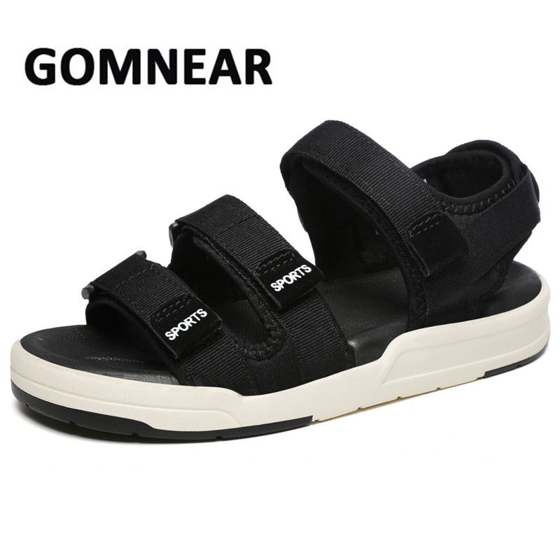 GOMNEAR Summer Mens Sandals Breathable Beach Sandals Outdoor Shoes Men Big Size Women Sports Shoes Slippers Zapatos Hombre 2018