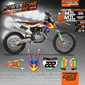 MX Enduro 2017 2016 Custom Team GraphicsDecals 3M Customized  Sticker Kits For KTM SX SXF XCW EXCF EXC 125 250 300 350 450 530