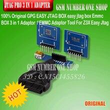 100% מקורי קל GPG JTAG BOX תיבת קל jtag Emmc התיבה 3 ב 1 מתאם/מתאם כלי EMMC Z3X קל Jtag פרו