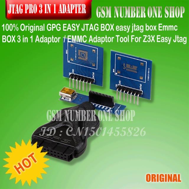 100% Original GPG EASY JTAG BOX easy jtag box Emmc BOX 3 in 1 Adaptor /EMMC Adaptor Tool For Z3X Easy Jtag Pro