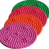 Foot Massage Cushion Pad Foot Sole Acupoint Pain Fitness Blanket Round Shiatsu Foot Massager Acupressure Mat S / L
