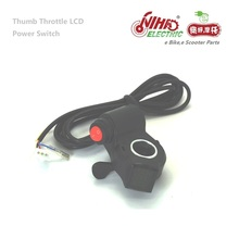 22 E-BIKE Thumb Throttle with LCD Digital Battery Voltage Display and Power Switch E bike Bicycle Electric Scooter eBike ZTECH