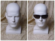 High quality realistic  fiberglass male mannequin dummy head for hat/ wig/ headphones/mask display manikin heads