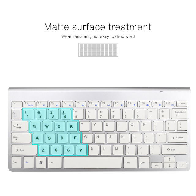 Waterproof Laptop Keyboard Stickers Spanish/English/Russian/French Deutsch/Arabic/Korean/Japanese/Hebrew/Thai Keyboard Layout 3