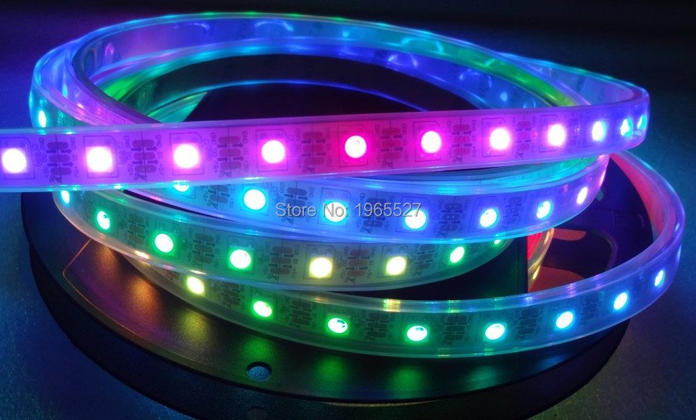60leds/m Sk6812 Rgb Led Strip Digital Pixel Light 60pixels/m Waterproof Silicon Tube Ip67 And Digestion Helping 4m/roll Dc5v Input White Pcb
