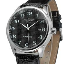Zwycięzca zegarek stylowy i modny prosty arabski tarcza z cyframi, niski klucz męski zegarek, zegarek mechaniczny, dwa modele do wyboru