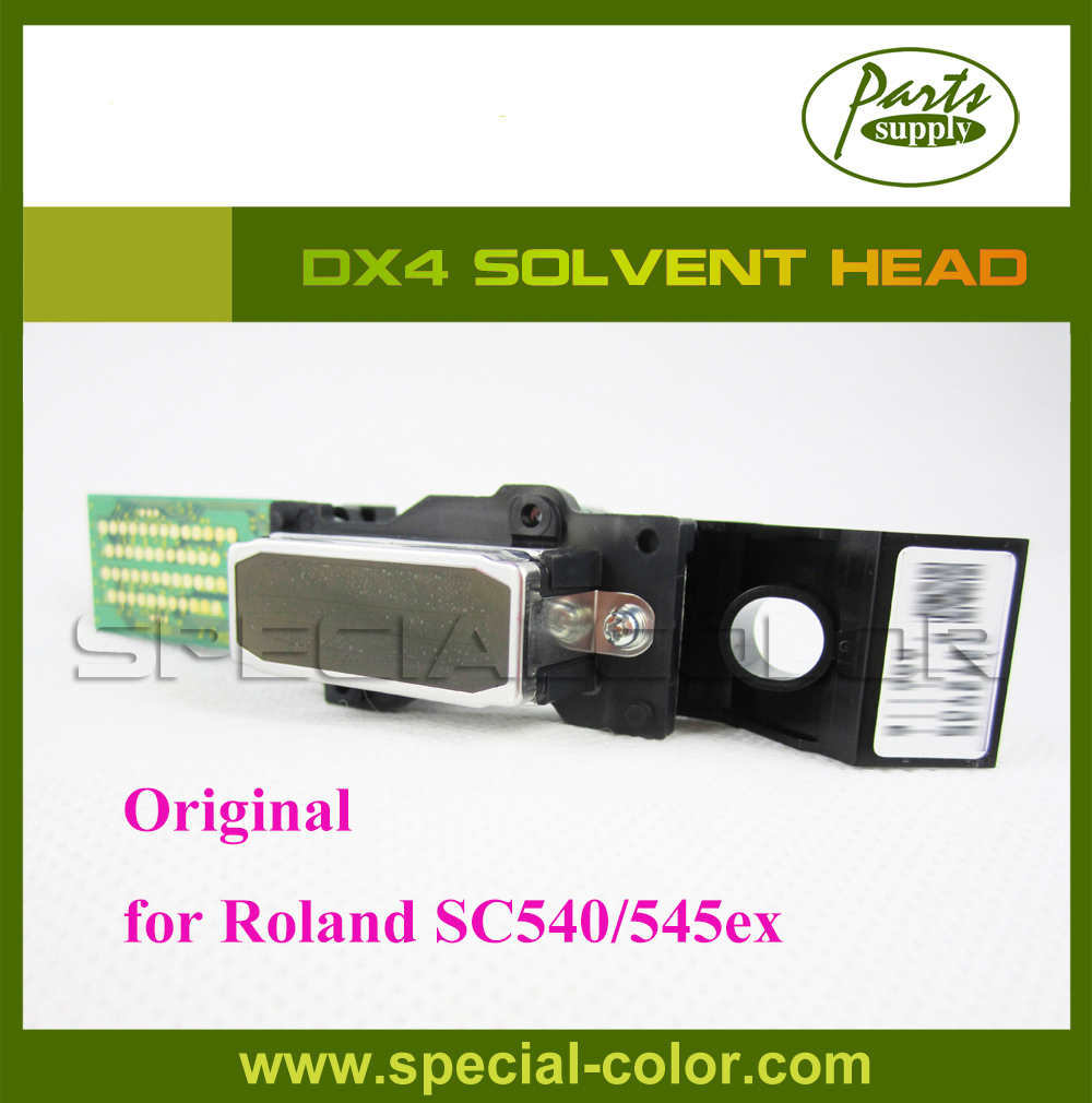 Japan Printhead DX4 Solvent Print Head for Roland SC540/545ex - with/without Serial Number (Get 2pcs DX4 Small Damper free) get 4pcs dx4 small damper as gift original japan dx4 solvent printer head roland rs640 mimaki jv3 printhead