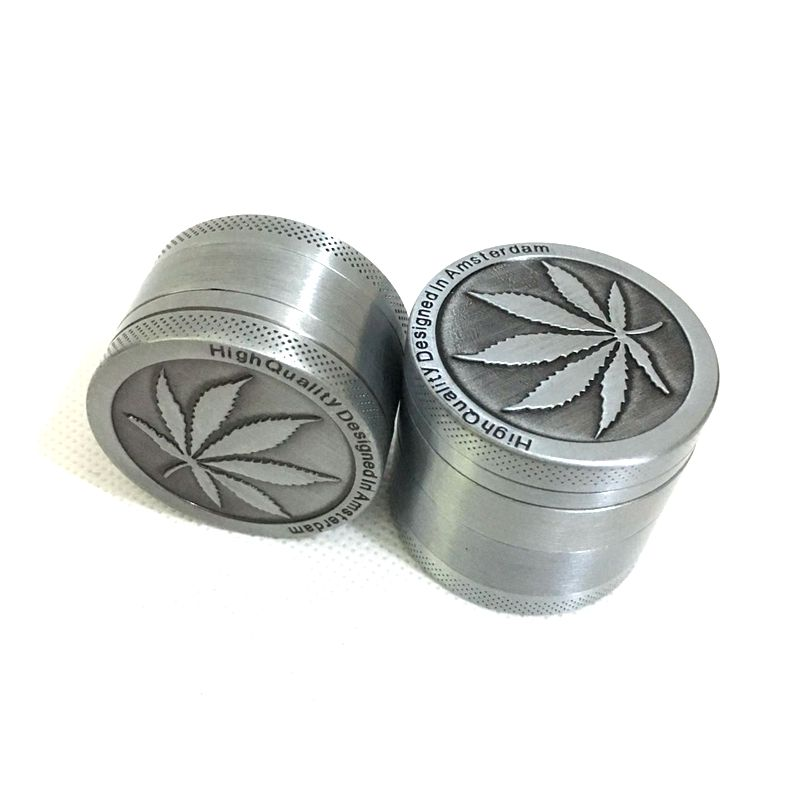 3 deler Mini Herb Grinder Weed Smoke Tobacco Hand Muller for Hookah Shisha Vannrør Diameter 40mm Drop Shipping
