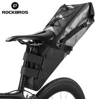 ROCKBROS Bicycle Waterproof Bag Bike Saddle Bag Cycling Foldable Tail Rear Seat Bag MTB Backpack Accessories High capacity 10L