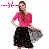 New Design Fashion Black Lace Pink Top Patchwork Women Elegant Casual Work Office Dress Sexy