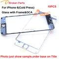 Original NEW Substituição LCD Frontal Touch Screen Vidro Imprensa Fria lente exterior com quadro de filme oca para iphone 6 6 s 4.7 polegadas