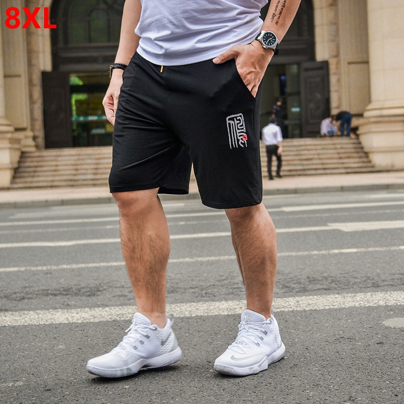 Summer thin section high elastic casual shorts big size male large size shorts pocket elastic waist cotton shorts