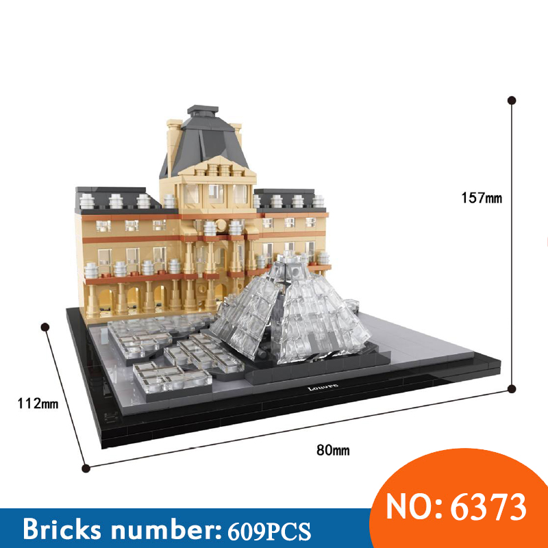 HSANHE 6373 Architecture New York Louvre World Famous City Model Building Blocks Sets Bricks Classic Kids Toys For Children world famous architecture 1977pcs wange blocks golden gate bridge model building bricks set diy assembly toys for children 8023
