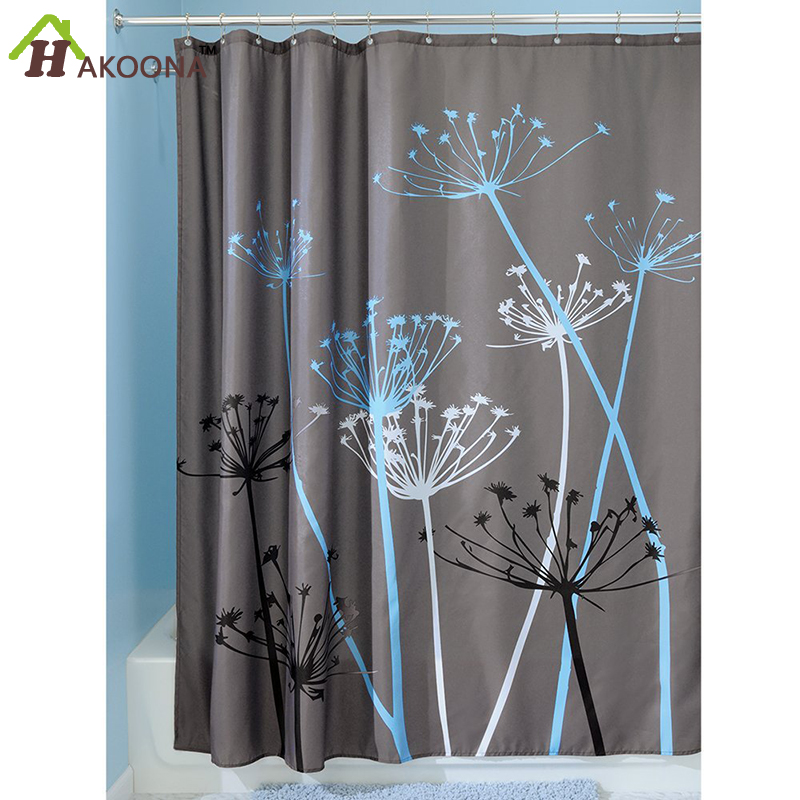 HAKOONA Dandelion Pattern Shower Curtains Waterproof Polyester Hotel Home Bathroom With 12 Hooks 180180cm In From Garden On