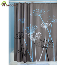 HAKOONA Dandelion Pattern Shower Curtains Waterproof Polyester Hotel Home Bathroom Shower Curtains with 12 Hooks 180