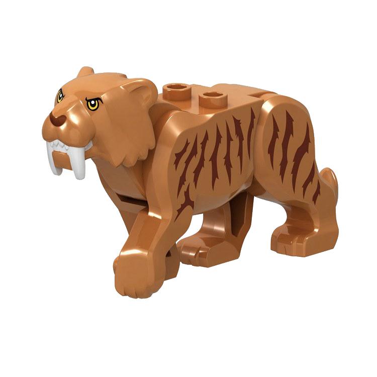 Legoing Dinosaur Animals Tiger Leopard Polar Bear Elephant Shark Black Camel Building Blocks Toys For Children Animal Legoing