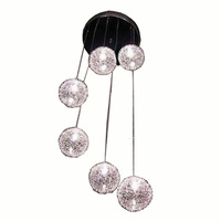 6 Lights Aluminum Wire Ball Ceiling Light Free Sippinng Living Room Stair Ceiling Lamp Luxury Home Decorate Ceiling Fixture