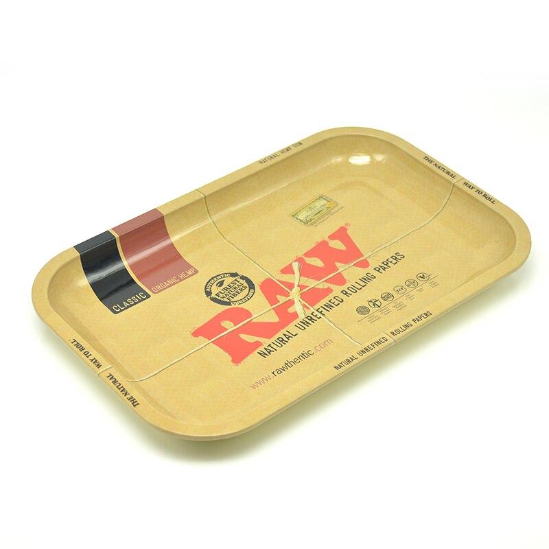 10pcs/lot Cigarette smoke RAW iron storage tray size 27.7*17s