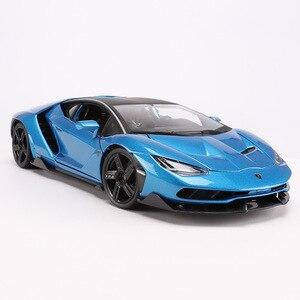 Image 4 - 1:18 scala Pressofusi In LP770 4 Modello di Auto Sportiva Simulato Lega di giocattoli modello di Auto con controllo del volante dello sterzo della ruota anteriore