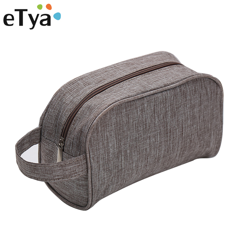 eTya Fashion Men Women Cosmetic Bag Makeup Case Pouch Travel Multifunction Toiletry Zipper Solid Portable Wash Organizer bags aosbos fashion portable insulated canvas lunch bag thermal food picnic lunch bags for women kids men cooler lunch box bag tote