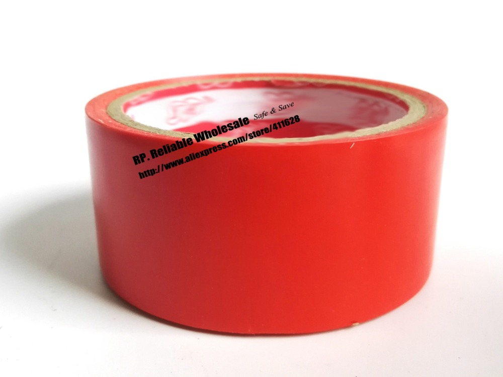 1x 4.5cm * 18 meters Adhesive Floor Warning Tape Sticky /Work Area Caution Tape / Ground Attention Tape Red