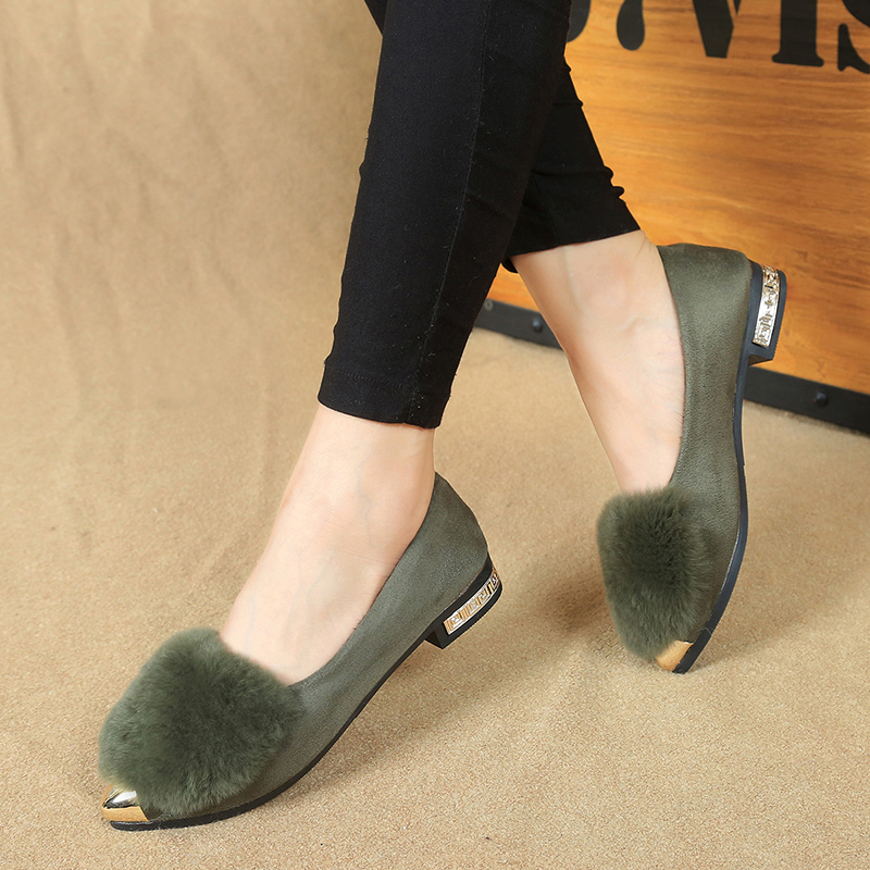 2016 autumn and winter new simple pointed shoes female fashion font b women b font flat