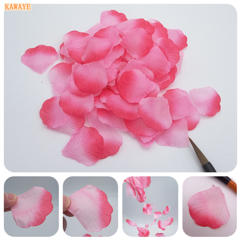Responsible Top Quality 1000pcs Silk Rose Flower Petals Leaves Wedding Decorations Party Festival Table Confetti Decor Home & Garden Artificial Decorations