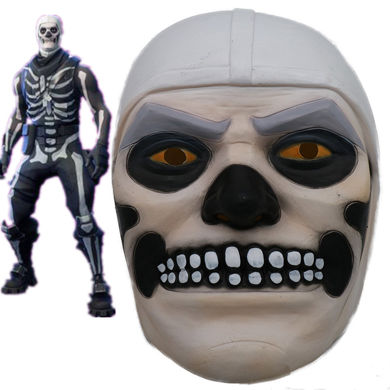 ZSQH Fortress night fortnited Battle Royale Halloween terror Latex Mask Skeleton Cavalry Cosplay Fortnight kids children boy