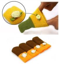 table leg socks 4pcs Chair Leg Socks Home Fashion Protect Floor Knit Flower Leg Sleeve Table Chair Foot Cover Sock