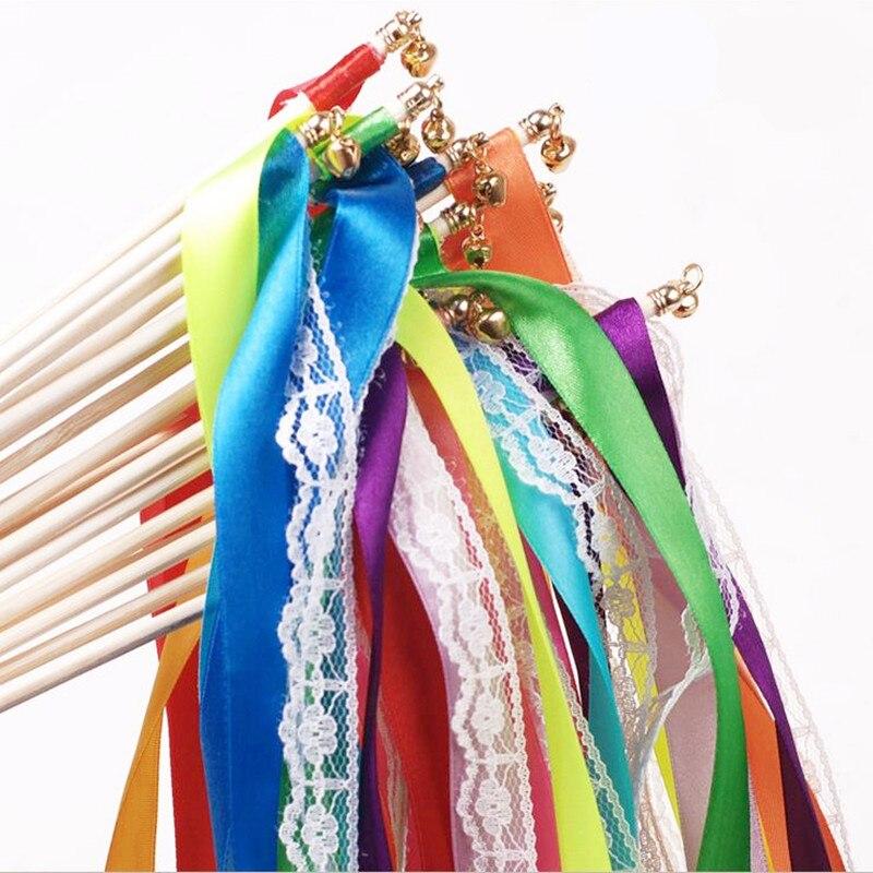 10 шт./лот Кружево декоративные ленты Фея палку газон Европейский Свадебная вечеринка предметы первой необходимости волшебные палочки