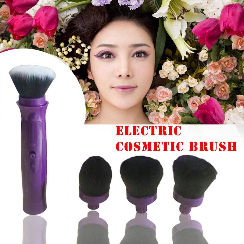 Maquita Electric Makeup Brush with 4 Heads Foundation Blusher Rotating Vibration Device Professional Make up Brush