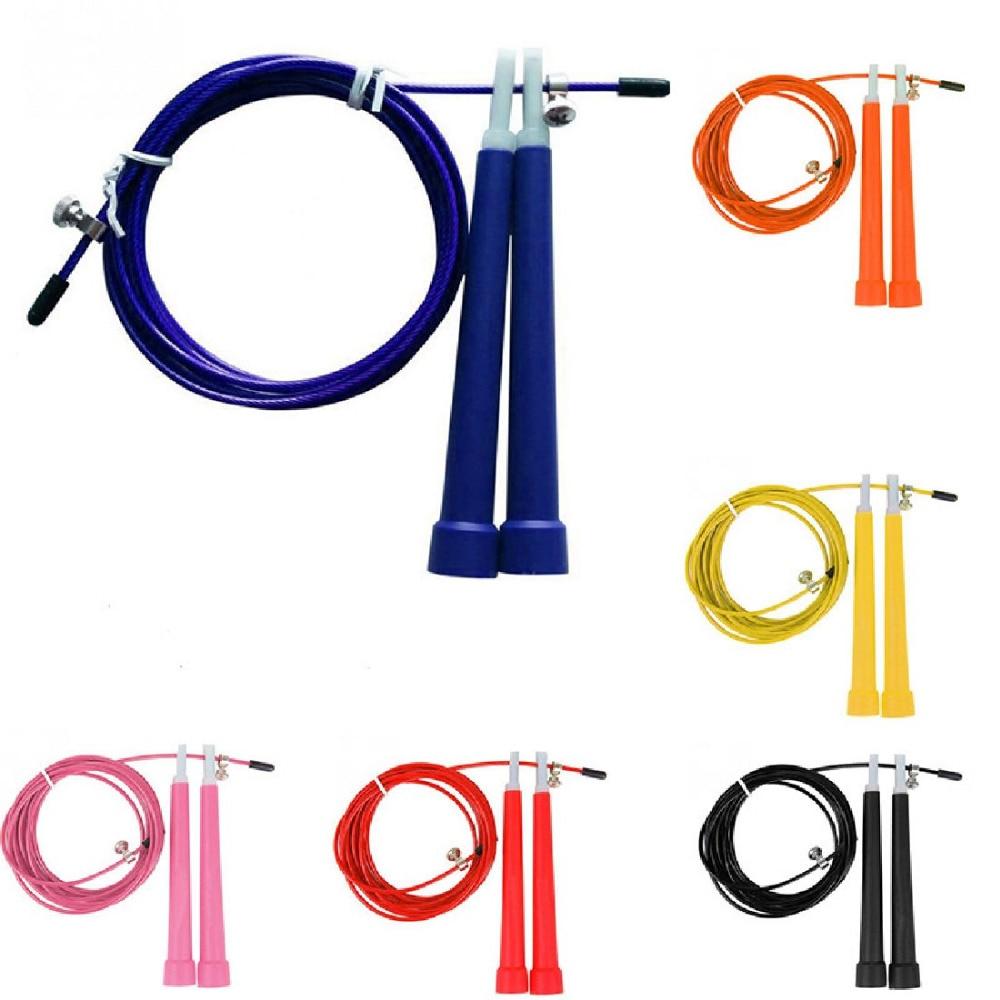 3 м прыгать скакалки кабель Сталь Регулируемая быстро Скорость ABS ручки скакалки Crossfit Training боксерские спортивные упражнения
