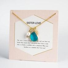 MEIBEADS модные подвески из жемчуга в форме листа, ожерелья-цепочки с драгоценными камнями, ожерелье с картой, любовь, ювелирные изделия, летний подарок