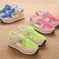 2016 a primavera eo verão nova moda coreana shoes crianças rede oco sandálias da marca infantil shoes atacado