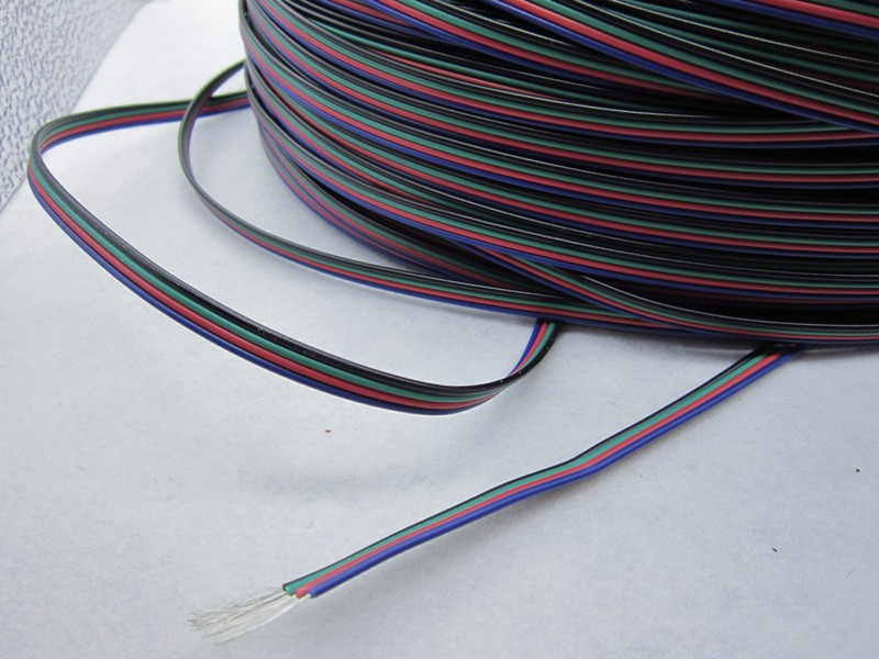 Aliexpress.com : Buy Tinned copper 22AWG led RGB cable,4 pin RGB ...