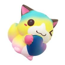 12CM Squishy aranyos szív macska illatos krém lassú emelkedő Squeeze gyerek játék Kawaii squish antistressz játék gyermek ajándékdobozok