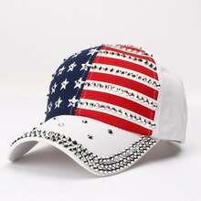 2021 мужские женские шапки бейсболка с флагом США Кепка алмазной