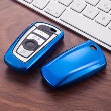 Nowy obudowa kluczyka do samochodu pokrowiec na bmw 520 525 730li 740 118 320i 1 3 5 7 serii X3 X4 M3 M4 M5 Car Styling miękka ochrona tpu klucz Shel tanie tanio SENFEEL blue red pink gold sliver black