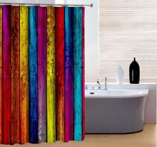 Brand New Polyester Bathroom Curtain Mould-Resistant Waterproof Colorful Bath Curtain Rainbow Style Shower Curtain 180x180cm deer water resistant shower curtain