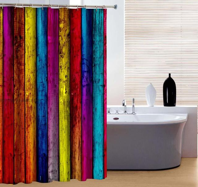 Brand New Polyester Bathroom Curtain Mould Resistant Waterproof ...