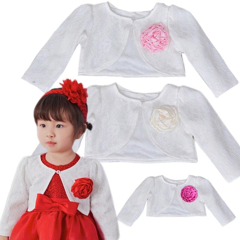 Clothing Coat Cape Shawl Jackets Short-Cardigan Shrug Bolero Wedding Baby-Girl Infant